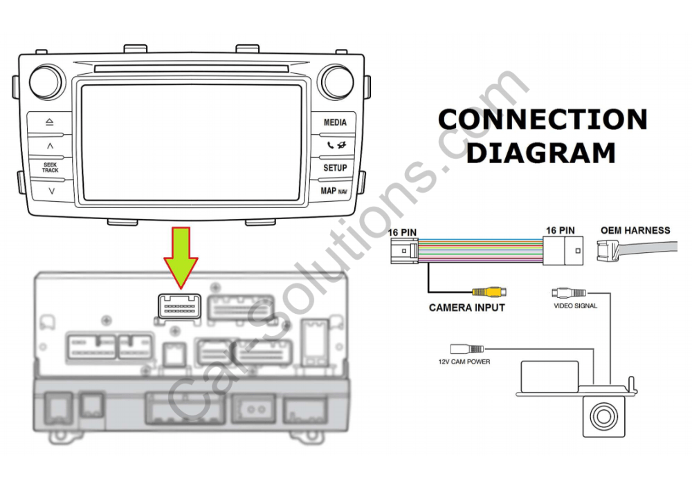 medium resolution of 2010 toyota camry backup camera wiring diagram