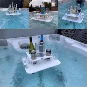 Carabarlife Bars | Hot Tub bar | Hottub bar | in tub bar | bubbles bar | hot tub accessories | bars for hot tub | hot tub drinks holders