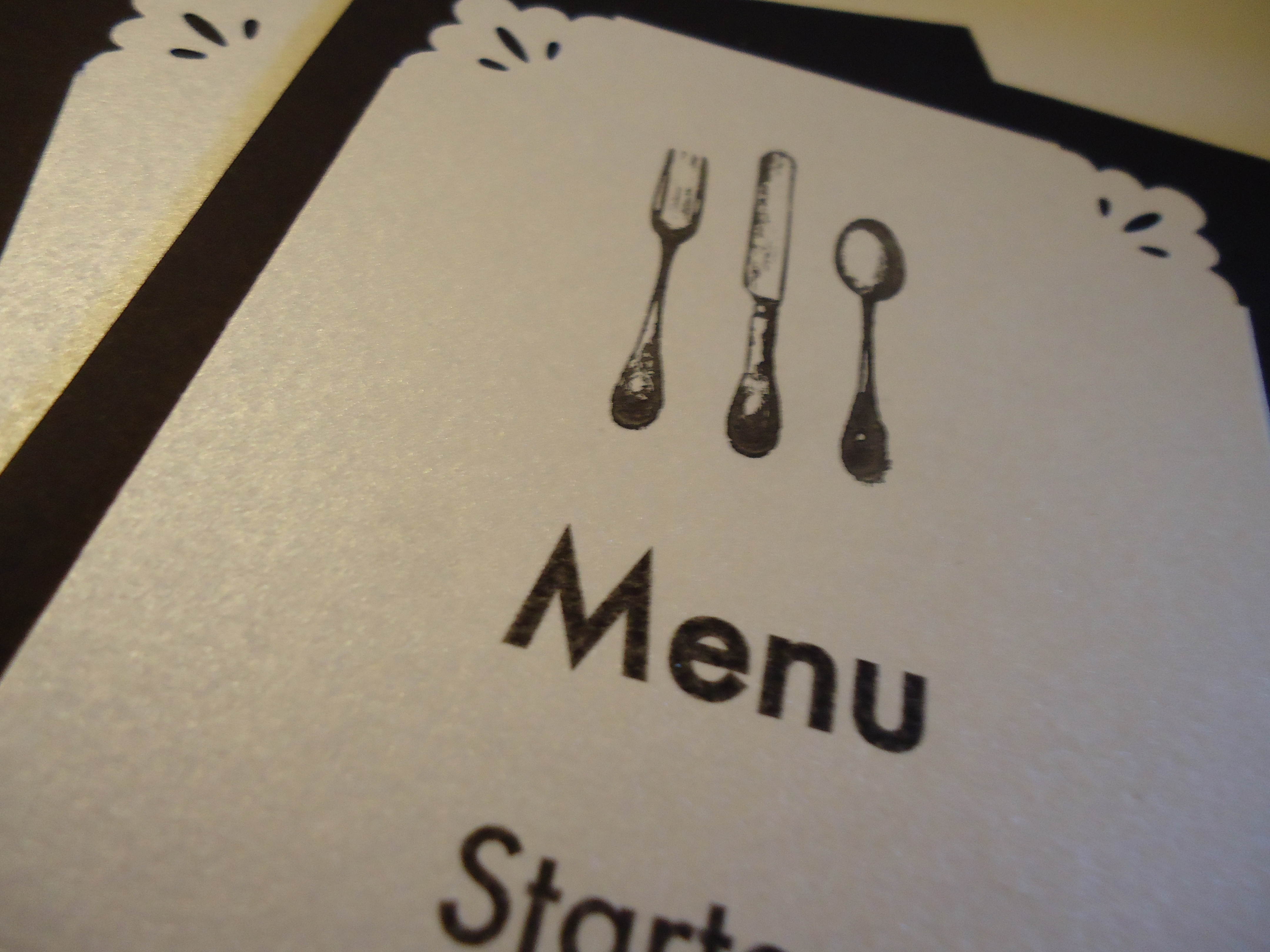 How To Make your Own Fork Knife Spoon Menu Cards  Its