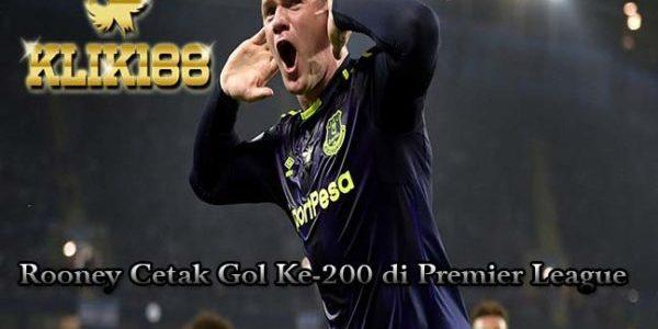 Rooney Sukses Torehkan 200 Gol di Premier League