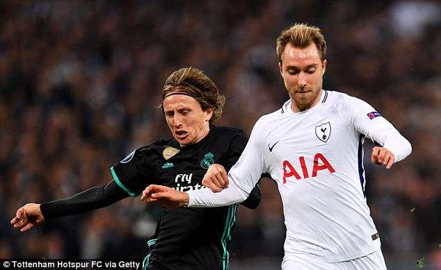 Real Madrid Targetkan Christian Eriksen Sebagai Pengganti Luka Modric