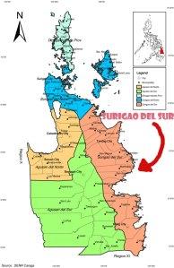 surigao del sur map