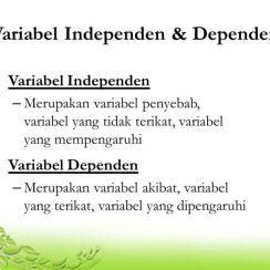 Variabel dependen Independen