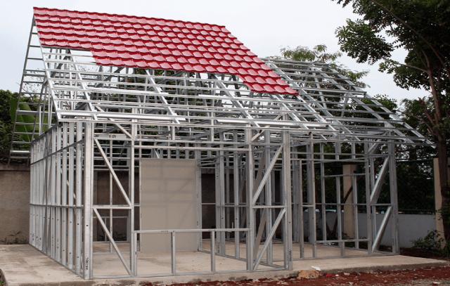 harga kanopi baja ringan karawang jasa pasang atap rangka