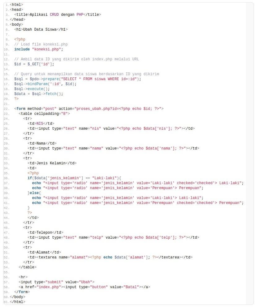 Cara Membuat Crud Dengan Php Dan Mysql Untuk Pemula : membuat, dengan, mysql, untuk, pemula, Membuat, Dengan, MySQL, Lengkap, Pemula