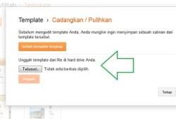 Cara Upload dan Mengganti Template Blogspot