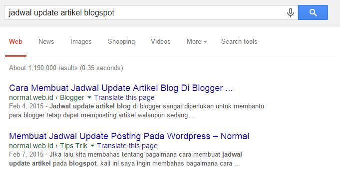 cara cek posisi artikel di Google SERP