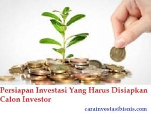 persiapan investasi