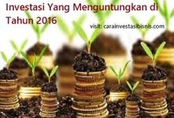 Investasi Yang Menguntungkan Di Tahun 2016