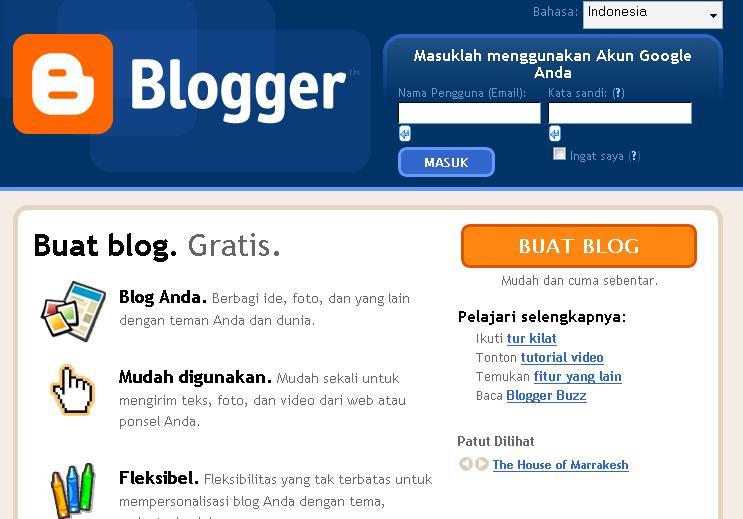 Membuat Blog Gratis