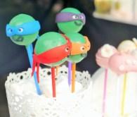 Teenage Mutant Ninja Turtle cake pops, of all things.