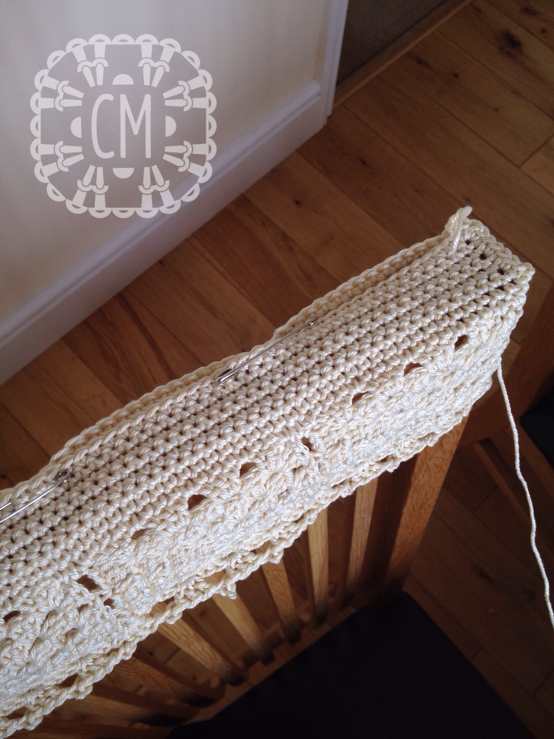 crochet christmas chair covers folding sling canada patterns cara medus pin and join top flap on back cover