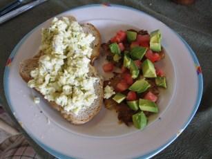 Tasty omelette & avacado salad ~ a light, easy option