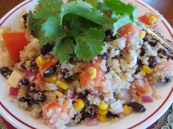 Quinoa, black bean & corn salad