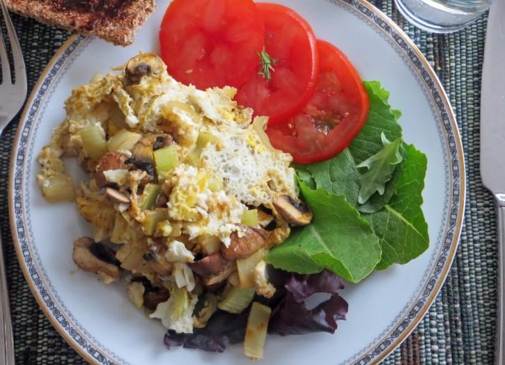 Ready to go - mushroom omelette