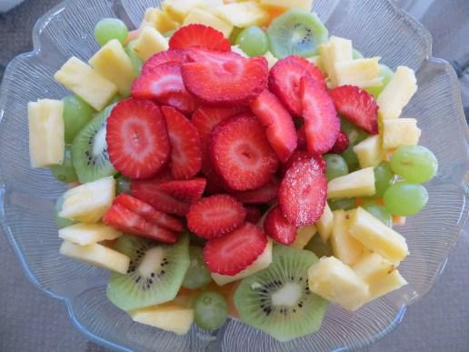 Dessert was my Australian favourite – fresh fruit salad.