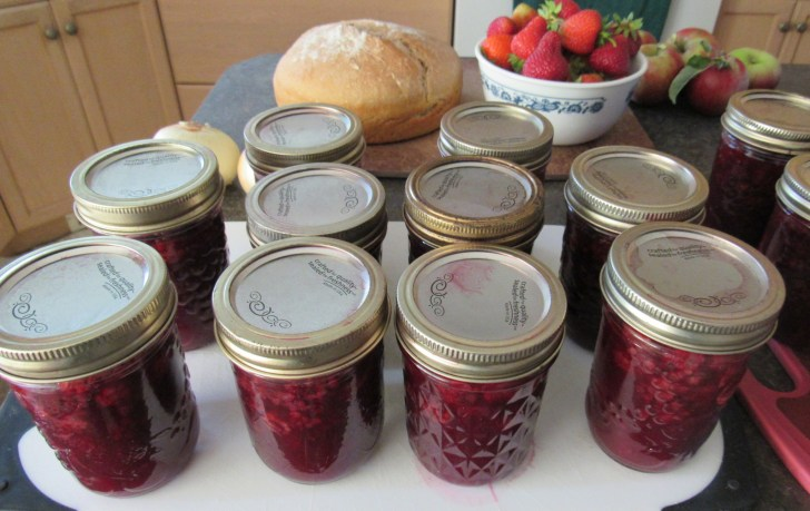 Fresh picked fruit to jam same day