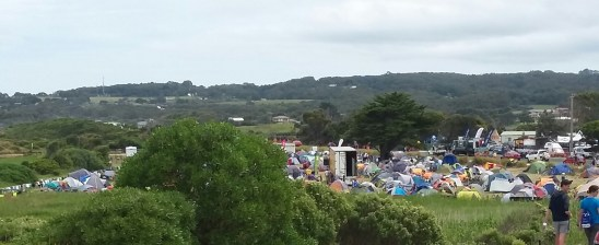 Countless tents @ Apollo Bay stopover