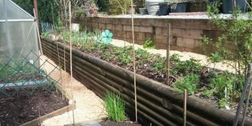 Newly mulched garden paths
