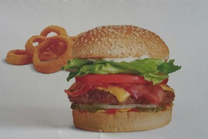 Fast Food Hamburger & rings