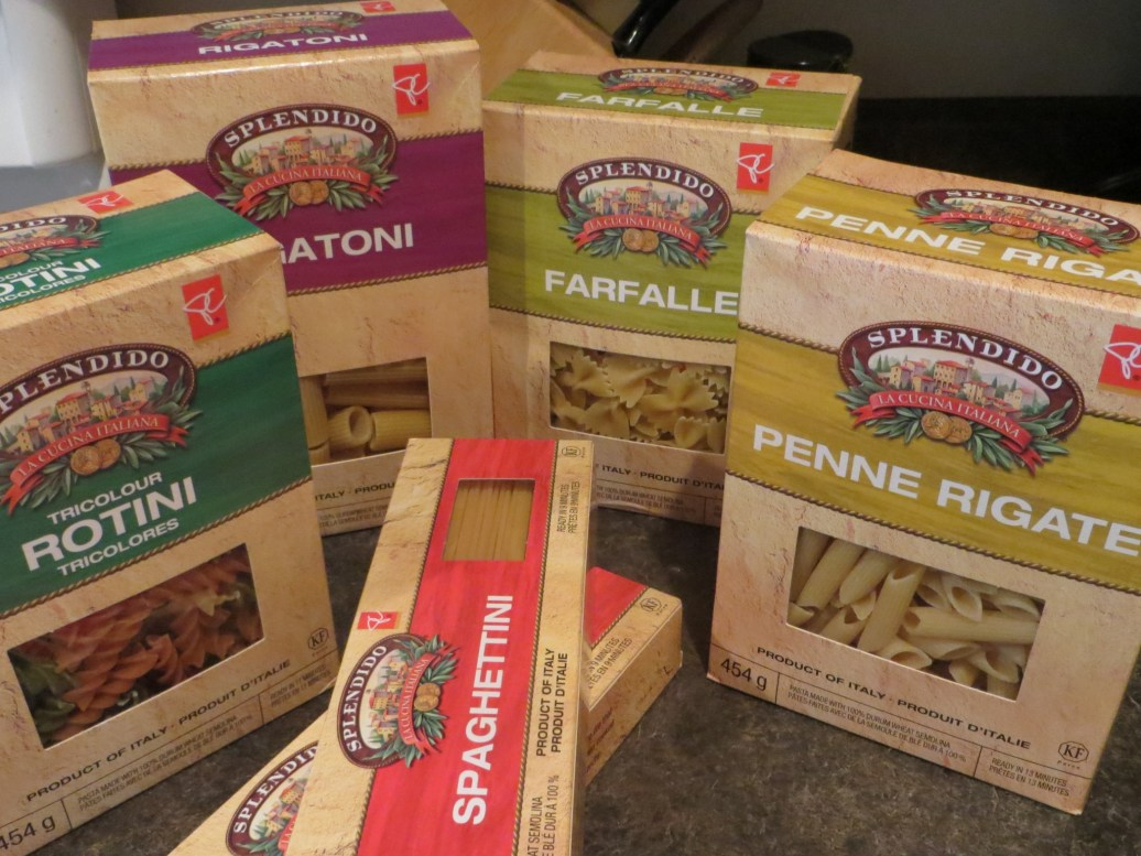 Pasta & Noodles: Spagetti, Penne, Rotini,