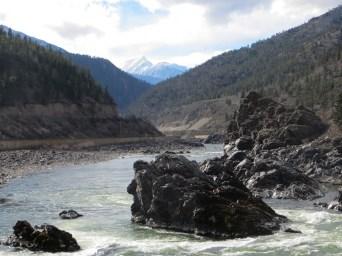 Fraser River in summer - Fraser Canyon