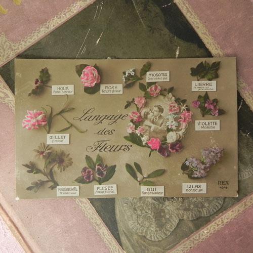 やどりぎ、ヤドリギ、宿木、アンティーク、アンティークカード、ポストカード、フランス、バラ、薔薇 ...
