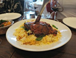 A sharing plate of Lamb Raan