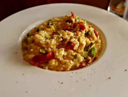 Aspragus Risotto - eat out to help out in Birmingham