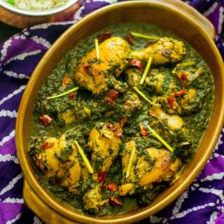 Saag Murgh – Chicken cooked with spinach