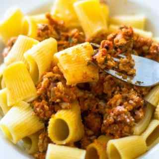 Rigatoni with Kid-Friendly Chicken Ragu