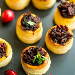 Bacon and Cranberry Jam vol-au-vents