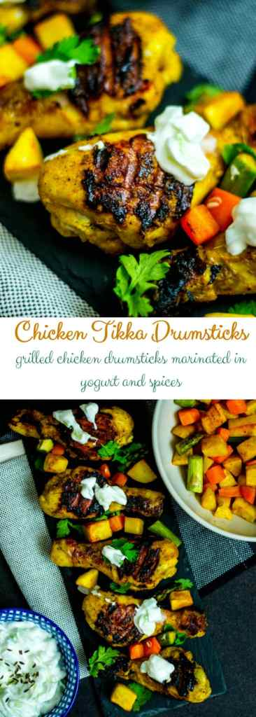 Grilled Chicken Tikka Drumsticks