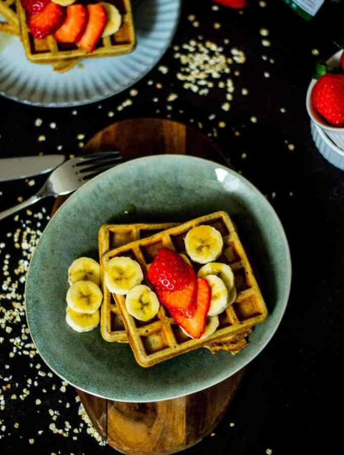 Gluten free Oats and Banana Waffles
