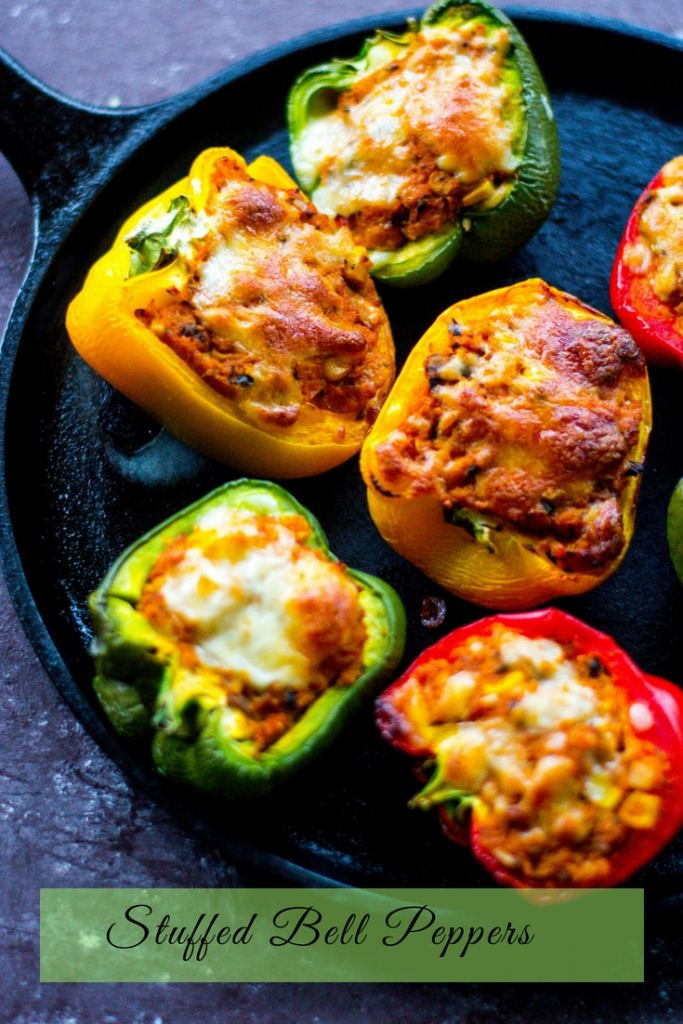 Stuffed Bell Peppers are a light, #vegetarian and #glutenfree meal, these stuffed bell peppers are easy to make, and are healthy as well! #summergrilling #stuffedbellpeppers