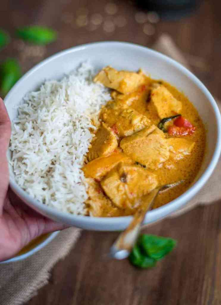 Instant Pot Thai Chicken Curry and Rice