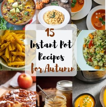 Instant Pot Recipes for Autumn Round-Up