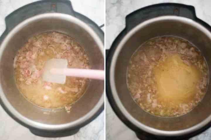 Making the honey mustard sauce