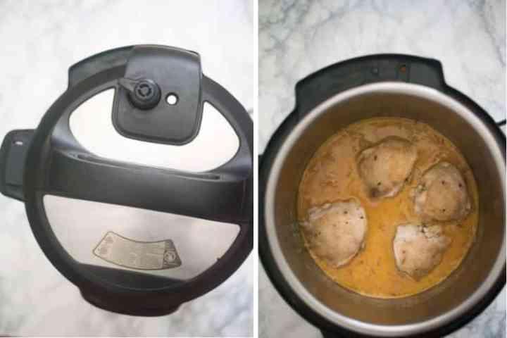 Cooking chicken in honey mustard sauce in the Instant Pot