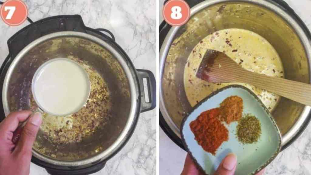 Instant Pot Potato and cauliflower au gratin