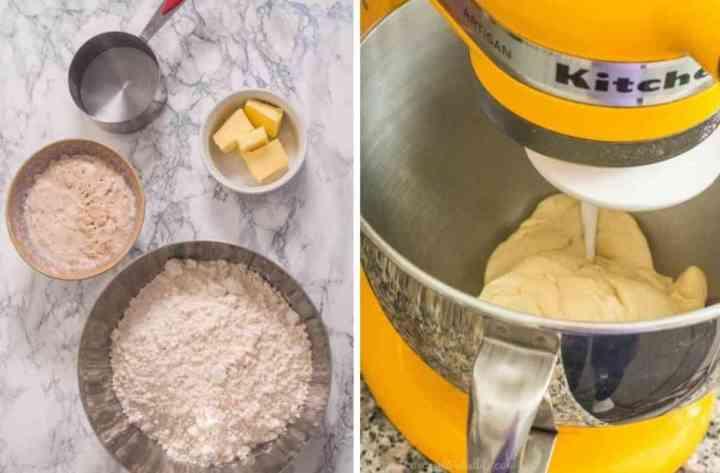 Ingredients for making pav bread