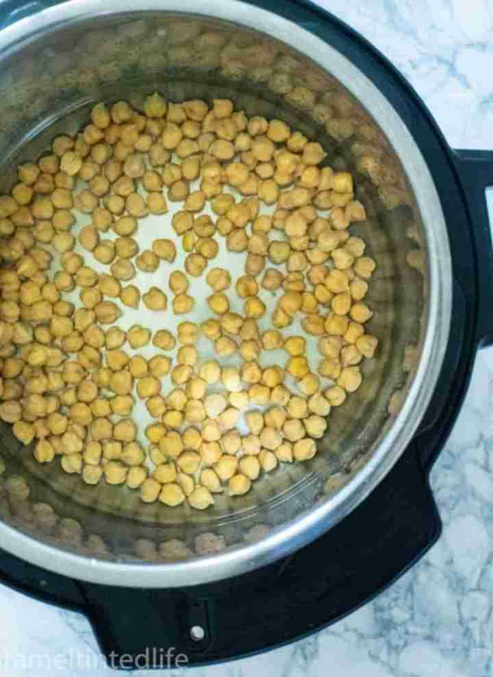 Chickpeas cooking in the Instant Pot