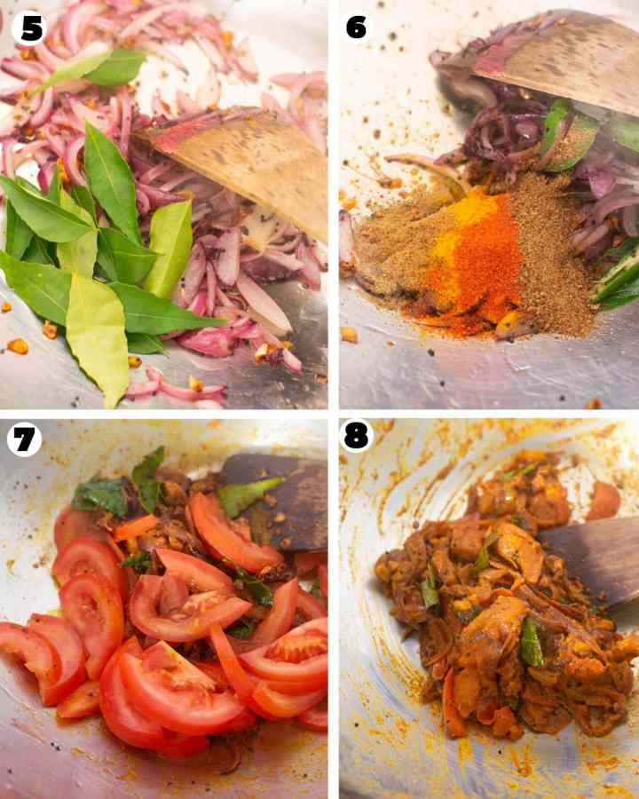 Cooking masala for the shrimp masala