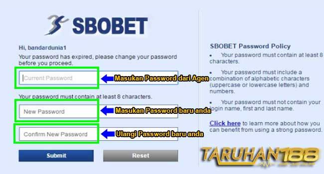 Kolom Ganti Password
