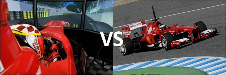 Simulador F1 vs Test F1