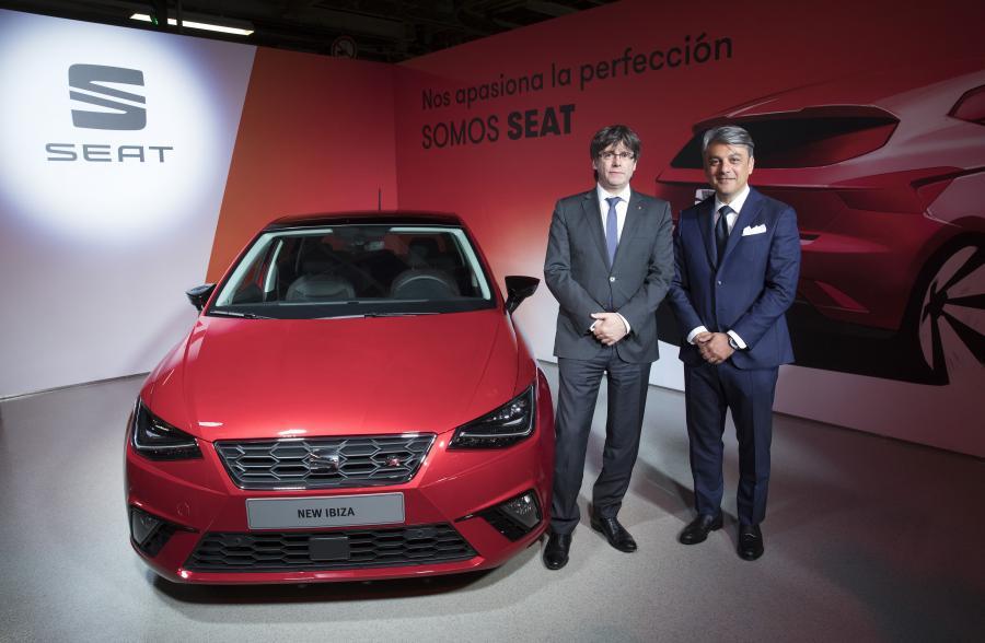 Los presidentes de la Generalitat de Cataluña y SEAT