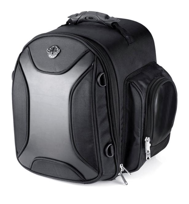Viking Dagr Medium Black Motorcycle Sissy Bar Bag