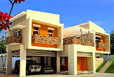 warna cat dinding luar rumah dengan warna hangat