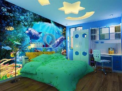 wallpaper tembok kamar tidur anak