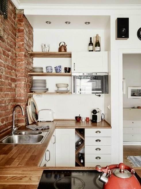 Desain Interior Dapur Cantik Yang Mungil Bersih dan Rapi